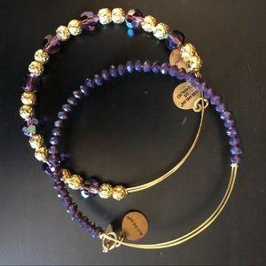 Alex and ani Amethyst Bracelets